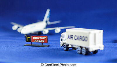 Air Cargo truck heading Runway Ahead