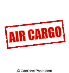 air cargo wording on chipped rectangular signs