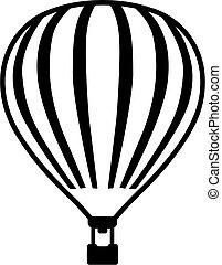 air chaud, détails, balloon