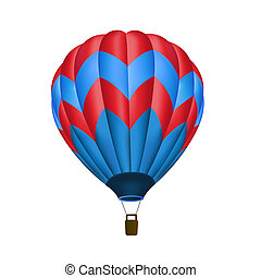 air chaud, isolé, balloon