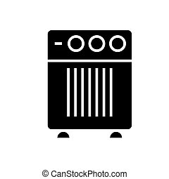 air cleaner humidifier icon, vector illustration, black sign on isolated background