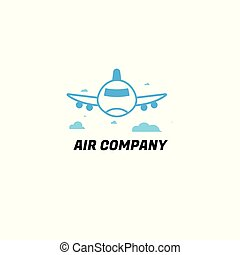 air company. plane. creativity idea. logo. design modern. vector illustration. on white background.