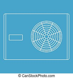 Air compressor icon, outline style