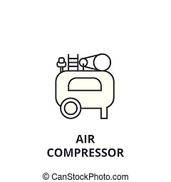 air compressor icon, sign, vector