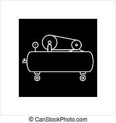 Air Compressor Icon Vector Art Illustration