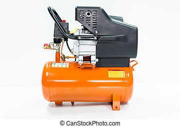 Air Compressor on white background