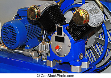 Air compressor - Two cylinders air compressor in garage...