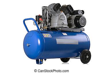 air compressor - New air compressor on a white background.