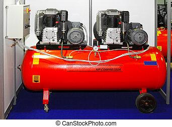 Air compressor - Double engine air compressor in service...