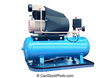 Air compressor - The electric air compressor isolated on the...