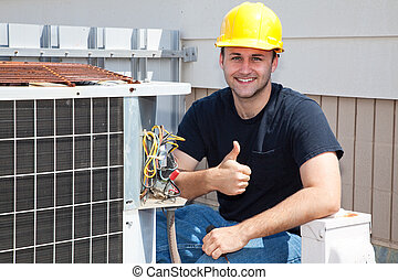 Air Condioner Repairman Thumbsup - Air conditioning...