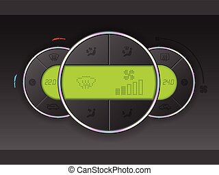 Air condition gauge combo with green lcd
