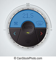 Air condition gauge with blue lcd and three buttons