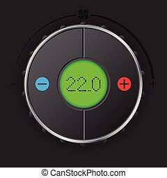 Air condition gauge with green lcd