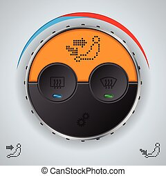 Air condition gauge with lcd display
