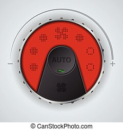 Air condition gauge with red lcd and two buttons