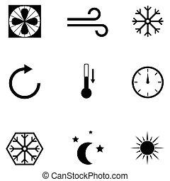 air condition icon set