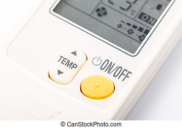 air condition remote isolated with white background