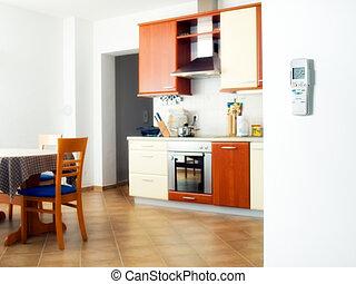 Air-conditioned interior