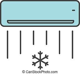 Air conditioner color icon