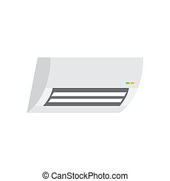 air conditioner colored flat icon vector design illustration