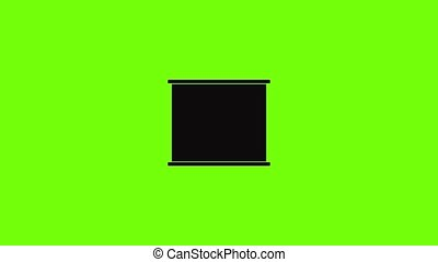 Air conditioner compressor icon animation best simple object on green screen background