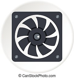 Air conditioner compressor unit icon circle