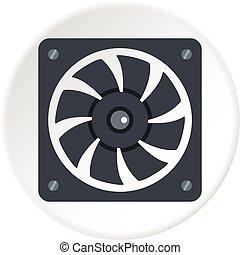 Air conditioner compressor unit icon circle