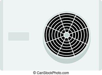 Air conditioner compressor unit icon isolated