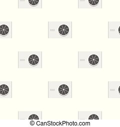 Air conditioner compressor unit pattern seamless