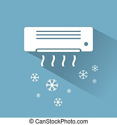 Air conditioner cooling icon