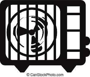 Air conditioner fan icon, simple style - Air conditioner fan...