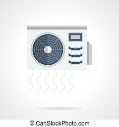 Air conditioner flat color vector icon