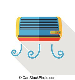 air conditioner flat icon