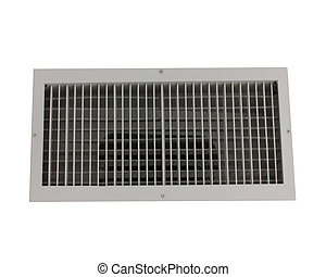 Air conditioner vent grate isolated on white background