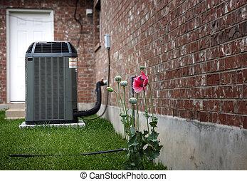 Air conditioner - High efficiency modern AC-heater unit, ...