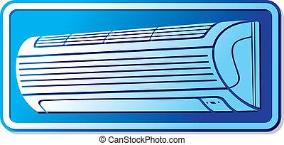 air conditioner icon (air conditioning symbol, air...