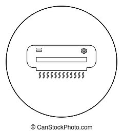 Air conditioner  icon black color in circle