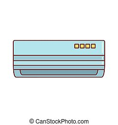 Air conditioner icon, cartoon style - Air conditioner...