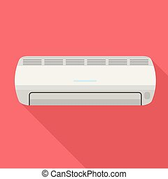 Air conditioner icon, flat style