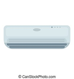 Air conditioner icon in cartoon style isolated on white background. Hotel symbol stock vector illustration.