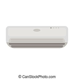 Air conditioner icon in monochrome style isolated on white background. Hotel symbol stock vector illustration.