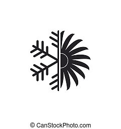 Air conditioner icon isolated. Flat design. Vector Illustration