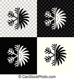 Air conditioner icon isolated on black, white and transparent background. Vector Illustration