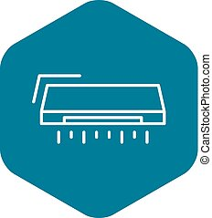 Air conditioner icon, outline style - Air conditioner icon....
