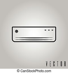 air conditioner isolated icon vector illustration