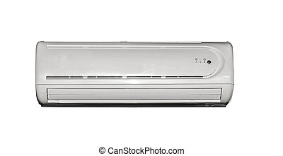 Air conditioner isolated on a white background