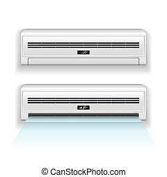 Air conditioner isolated on white vector