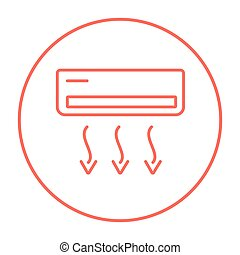 Air conditioner line icon. - Air conditioner line icon for...