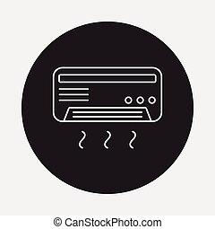 air conditioner line icon